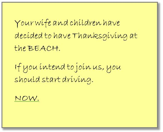 tgiving note