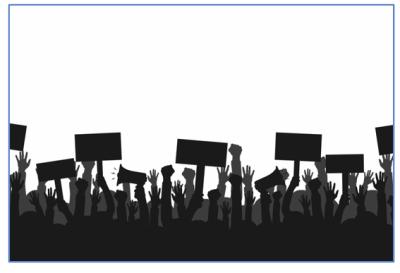 protester silhouette